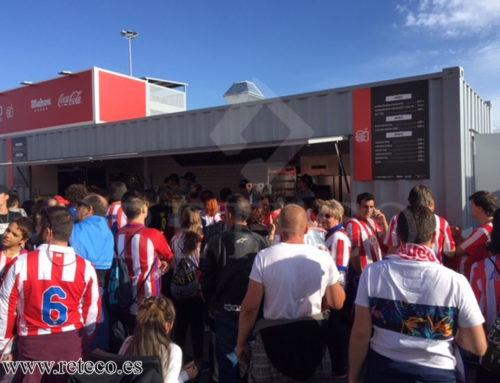Venta Contenedores Uso Comercial o para Eventos, Bar Quiosco Atlético de Madrid